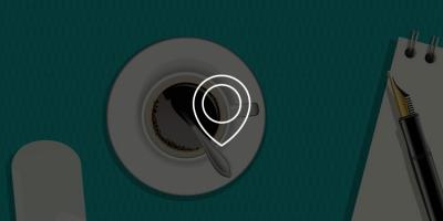 Vicstory Contact - beeld met koffie en locatie icoon